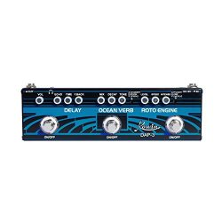 Rowin DAP-3 Guitar Multi Effects Pedal 3 In 1 Effects Delay/Roto Engine/Ocean Verb
