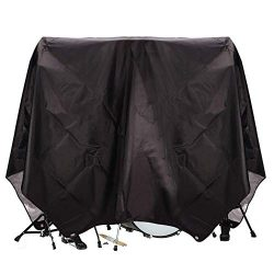 Drum Set Cover(80″x 108″), Drum Accessories, Electric Drum Kit Cover with Water-Resi ...