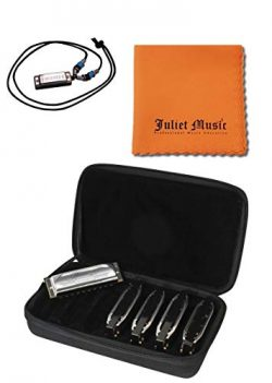 Hohner Special 20s SPC Harmonica 5-Pack- Keys of G, A, C, D, E Bundle with Juliet Music Polish C ...