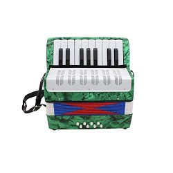 Accordion,Mini Accordion,Small 17-Key 8 Bass Educational Musical Instrument Toy for Kids Childre ...