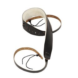 Levy's Leathers PM14-DBR Genuine Leather Banjo Strap with Sheepskin, Dark Brown