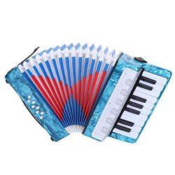 17-Key 8 Bass Accordion, Mini Small Piano Accordions Children's Musical Instrument Educati ...