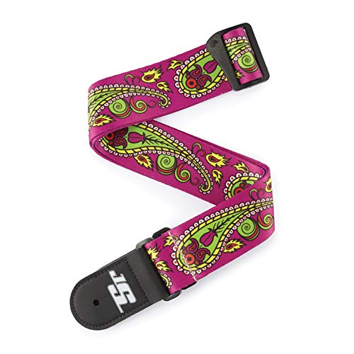 D'Addario Accessories Joe Satriani Guitar Strap, Paisley Purple