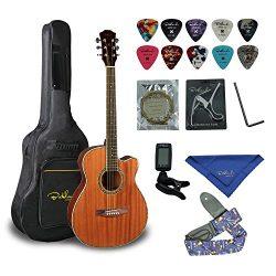 Bailando 40 Inch Cutaway Mahogany Acoustic Guitar