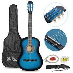 Smartxchoices Acoustic Guitar for Starter Beginner Music Lovers Kids Gift 38″ 6-String Fol ...