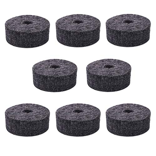 8 Pcs Cymbal Felt Washer Set, Drum Cymbal Felt Pads Set, Replacement Parts Accessories, Cymbal W ...