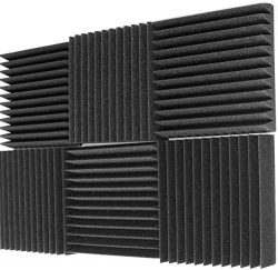 Mybecca 6 Pack Acoustic Foam Wedge 2″ X 12″ X 12″ Studio Soundproofing Panels  ...