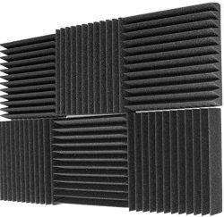 Mybecca 6 Pack Acoustic Foam Wedge 2″ X 12″ X 12″ Studio Soundproofing Panels  ...
