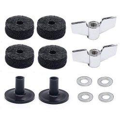 (12 Pieces)Cymbal Replacement Accessories Cymbal Felts Hi-Hat Clutch Felt Hi Hat Cup Felt Cymb ...
