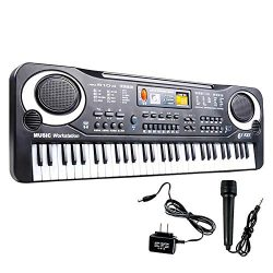 Donteng 61 Keys Digital Music Electronic Keyboard Key Board Electric Piano for Child Child Elect ...