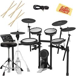 Roland TD-17KVX Electronic Drum Set Bundle with Drum Throne, 3 Pairs of Sticks, Audio Cable, and ...
