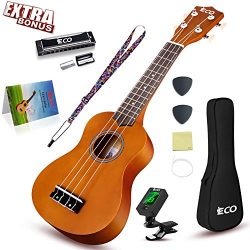Soprano Ukulele Beginner Kit – 21 Inch w/How to play Songbook Carrying bag Digital Tuner A ...