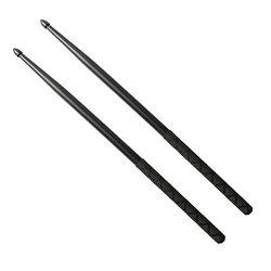Nylon Drumsticks for Drum Set 5A Light Durable Plastic Exercise ANTI-SLIP Handles Drum Sticks fo ...