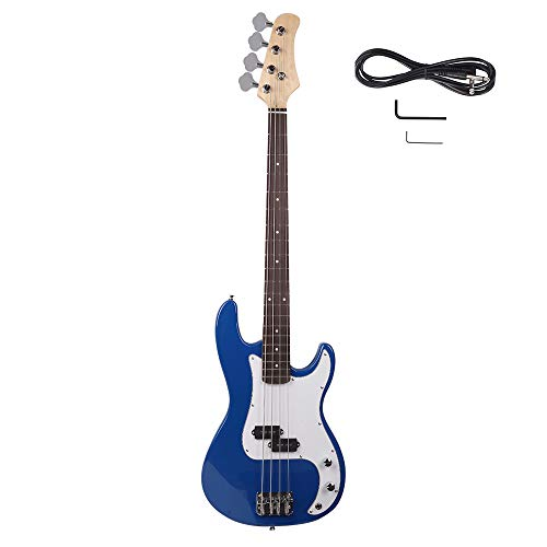 Z ZTDM Electric Bass Guitar Full Size 4 String Exquisite Burning Fire Style Electric Bass for Ad ...