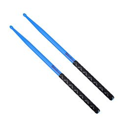 5A Nylon Drumsticks for Drum Set Light Durable Plastic Exercise ANTI-SLIP Handles Drum Sticks fo ...