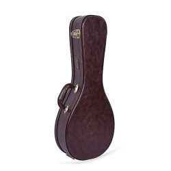 Crossrock, vintage brown arch-top wooden case for A style mandolin (CRW600MABR)