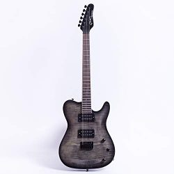 Grote Tele Set-in Electric Guitar With locking tuners (black)