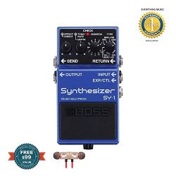 Boss SY-1 Synthesizer Stombox Effects Pedal includes Free Wireless Earbuds – Stereo Blueto ...