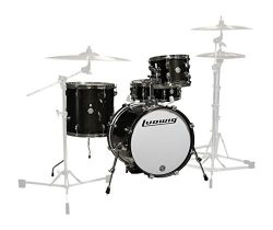 Ludwig Drum Shell Pack, Black Sparkle, inch (LC179X016)