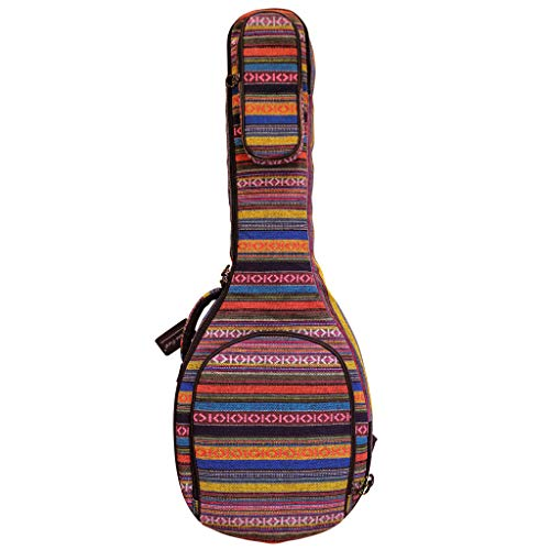 MUSIC FIRST Original Design 0.65″ (16mm) Thick Padded Country Style 5-string Banjo Case, B ...