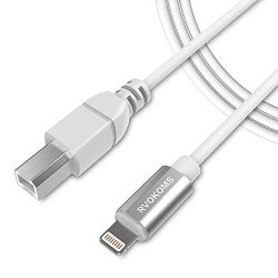 RVOKOMS MIDI Cable, USB 2.0 Type B OTG to Midi Cable, Compatible with iOS Devices to Midi Keyboa ...