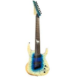 ZUWEI Solid Body Electric Guitar 8 Strings – ASH Body, Mahogany & Rosewood Neck – ...