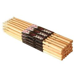 On Stage 5A Maple Drum Sticks – (Nylon Tip, 12 Pak) (12 Pack) (Nylon Tip)