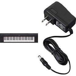 Yamaha NP12 61-Key Lightweight Portable Keyboard, Black with AC Power Adaptor