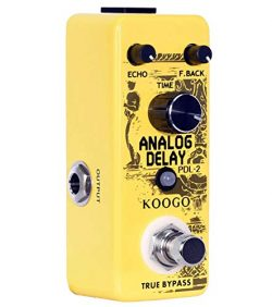 Koogo Analog Delay Pedal Delay Guitar Effect Pedal True Bypass Full Metal Shell