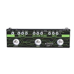 Koogo Guitar Multi-Effect Pedal Delay Ocean Verb Distortion 3-in-1 Series Analog Digital Mingle  ...