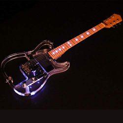 ZUWEI Acrylic Body Electric Guitar LED Light Upgraded Skeleton – Canada Maple Neck – ...