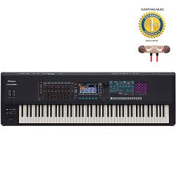 Roland FANTOM-8 88-Note Workstation Keyboard Includes Free Wireless Earbuds – Stereo Bluet ...