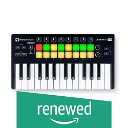 Novation Launchkey Mini MK2 Ableton Logic MIDI 25-Key Controller (Renewed)