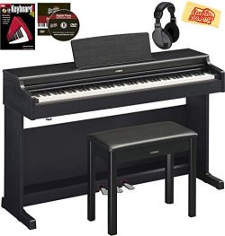 Yamaha Arius YDP-164 Console Digital Piano Bundle with Furniture Bench, Headphones, Instructiona ...