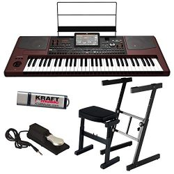Korg Pa1000 Professional Arranger Keyboard with Z-Frame Stand, Z-Frame Bench, Piano-Style Sustai ...