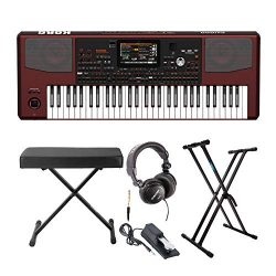 Korg PA1000 Professional Arranger Keyboard bundle with Knox Bench, Stand, Sustain Pedal & St ...