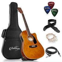 Ashthorpe Full-Size Cutaway Thinline Acoustic-Electric Guitar Package – Premium Tonewoods  ...