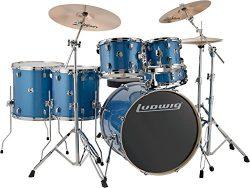 Ludwig Element Evolution 6-Piece Drum Set Blue Sparkle