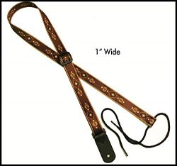 Legacystraps 1″ Strap for A & F type Mandolin, Ukuleles and Guitars in Navajo Design w ...