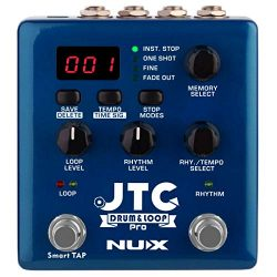 NUX JTC PRO Drum Loop PRO Dual Switch Looper Pedal 6 hours recording time 24-bit and 44.1 kHz sa ...
