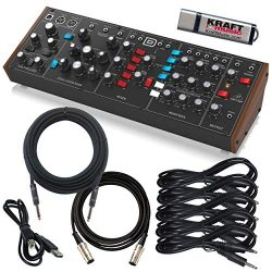 Behringer Model D Analog Synthesizer with Instrument Cable, MIDI Cable, USB Cable, Patch Cables  ...