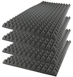 Foamily Acoustic Foam Sound Absorption Pyramid Studio Treatment Wall Panel, 48″ X 24″ ...