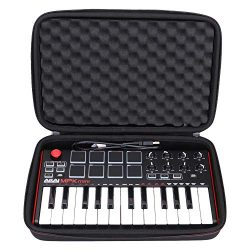 LTGEM Travel Hard Carrying Case for Akai Professional MPK Mini MKII & MPK Mini Play | 25-Key ...