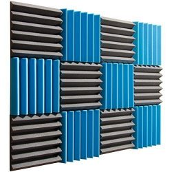 Pro Studio Acoustics – Blue / Charcoal – 12″x12″x2″ Acoustic Wedge ...