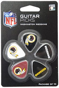 Woodrow Guitar by The Sports Vault NFL Washington Redskins Guitar Picks, 10 Pack
