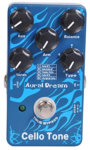 Aural Dream Cello Tone Synthesizer Guitar Effects Pedal based on organ including Cello 8′, ...