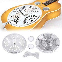 Bnineteenteam Dobro Resonator Guitar Full Set Replacement Part,6-in-1 Set Resonator Guitar Repl ...