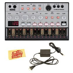 Korg Volca Bass Analogue Bass Machine Bundle with Power Supply and Austin Bazaar Polishing Cloth