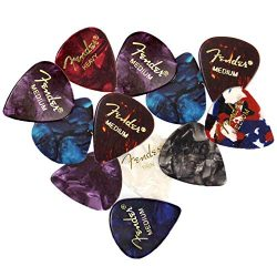 Fender Premium Picks Sampler – 12 Pack Includes Thin, Medium & Heavy Gauges (Austin Ba ...