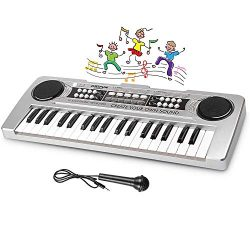 LYBALL Kids Piano 37 Keys Multi-Function Keyboard Organ Electronic Piano with Microphone & M ...